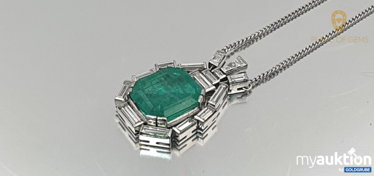 Artikel Nr. 131654: Collier Brilliant Diamanten Smaragd