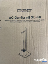 Artikel Nr. 121322: Bremermann WC Garnitur mit Glasfuß