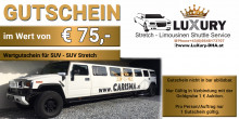 Auktion SUV Stretch Limousinen Gutschein von Luxury
